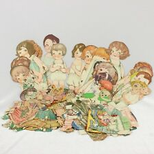 Vintage Paper Doll Lot Clothes 1930s Dolly Dingle Magazine Pictoral Review Cut