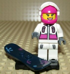 LEGO  SNOWBOARDER GIRL woman minifigure woman winter Collectible series 3