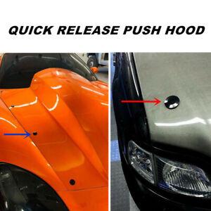 100*6mm Black Push Button Quick Release Bonnet Hood Pins Lock Bumper Appearance