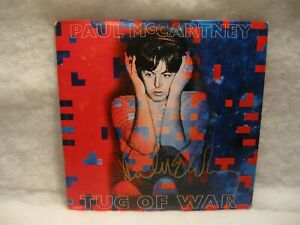 PAUL MCCARTNEY TUG OF WAR AUTOGRAPHED ALBUM