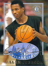 ALLEN IVERSON 1997 AUTOGRAPHED COLLECTION CARD! NBA MVP & ALL-STAR! 76'ERS! HOF!