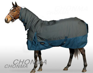 1680D 300G Fill Winter HeavyWeight Waterproof Grey Combo Turnout Pony Horse Rugs