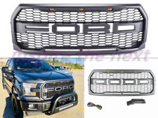 2015 2016 2017 Ford F-150 Raptor Style Conversion Grille W/ 3 Head LED  Lights