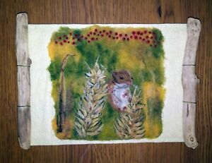Harvest Mouse - Needle Felted Painting