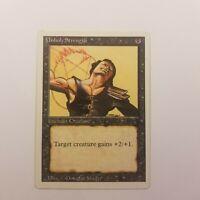 Magic The Gathering Revised (1994) Unholy Strength Card MTG XXVII