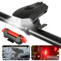 Fahrradbeleuchtung LED Fahrradlampe Rücklicht Set USB Scheinwerfer Wasserdicht
