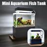 Air Pump Betta Small LED Lamp Desktop Mini Fish Tank Aquarium Water Filtration