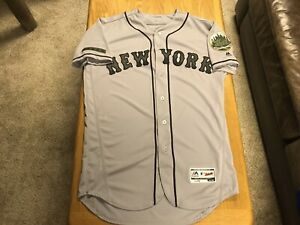 New York Mets Memorial Day Authentic Jersey Mens 44 MLB Majestic USMC Army Navy