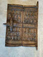 African Dogon Tribe Carved Figures Wood Village Granary Door Mali