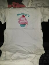 """Newborn """"Mommy's Little Sweetie"""" One Piece jump/body suit cupcake 3-6 Months NWT"""