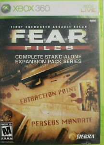 F.E.A.R. Files (Microsoft Xbox 360) GAME COMPLETE w/MANUAL EXPANSION PACK SERIES