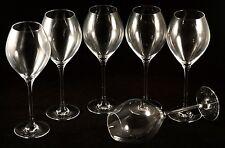 Champagne Veuve Clicquot : 6 Small Tasting Tulip Shaped glasses White Logo NEW