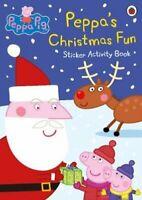 Peppa Pig: Peppa's Christmas Fun Sticker Activity Book 9780241200414 | Brand New