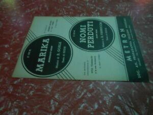 spartiti musicali vintage-MARIKA -NOMI PERDUTI -ED.MUS.METRON