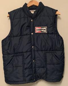 Champion Spark Plugs Polar Guard Vest Puffer Large Official Racing Apparel USA