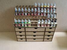 Paint Stand 52 bottle rack storage drawer warpaint Vallejo warhammer 40k wargame