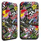 Cover Case colorata per iphone 5 5s 5c 6 6+ STICKER BOMB fantasia adesivi EDrink
