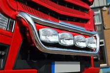 To Fit Mercedes Actros MP4 Polished Steel Grill Light Bar C + Oval Spot x4