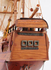 "Charles Darwin's Hms Beagle Voyage Wooden Model 32"" Tall Ship"