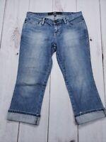 """Mossimo Cuffed Low Rise Crop Capri Stretch Jeans Plus Size 6 Inseam 20"""""""
