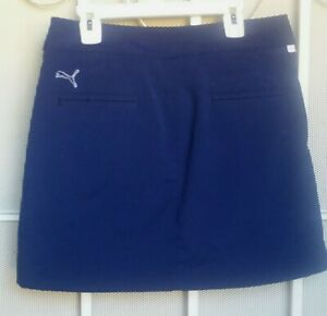 Pre-owned Puma Size 2, Blue Womens Golf Skort Skirt