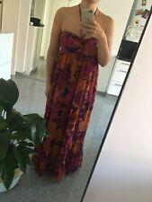 3c61fa6777f9e7 H&M Kleid Maxi lang Gr.38 Boho Sommer Strand Blumen Blogger Fashion Flower  Power