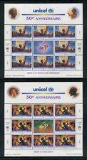 UN-Geneva #294-295, 1996 UNICEF 50th Anniversary - Fairy Tales, Panes Set NH