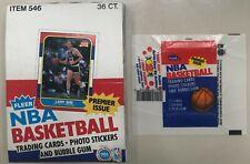 1986 Fleer NBA Basketball EMPTY Wax Pack Box + one Wax Pack Wrapper-near mint!