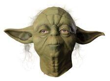 Mens Adult Star Wars Deluxe Yoda Full Overhead Costume Mask W/Hair