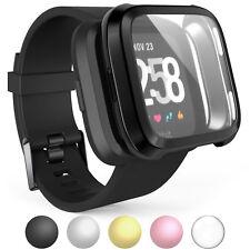 Caseflex Fitbit Versa Screen Protector Case Full 360 Protection Gel Bumper Cover