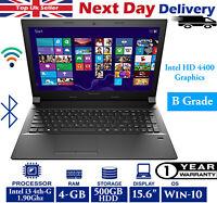 "Lenovo E50-70 15.6"" Laptop Intel 4th-Gen i3 1.90GHz 4GB RAM 500GB HDD Windows 10"