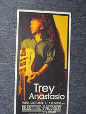 Trey Anastasio Concert Poster Philadelphia October 11, 8 1/2 X 17 ORIGINAL PHISH