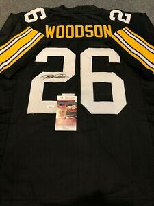 PITTSBURGH STEELERS ROD WOODSON AUTOGRAPHED SIGNED JERSEY JSA  COA