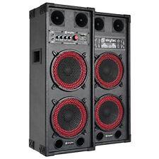 Pro Set sono actif Enceintes DJ PA Skytec Spb-28 USB SD 2x Subwoofer 20cm 800w