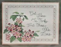 1987 Vntg NIP Janlynn Counted Cross Stitch Kit God Bless Our Family 16x12 7764F
