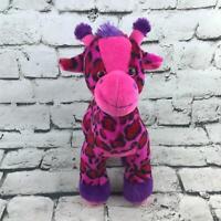 Fiesta Leopard Print Giraffe Plush Pink Purple Spotted Stuffed Animal Soft Toy