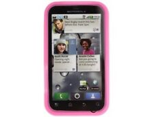 Soft Silicone Cover Case Hot Pink For Motorola DEFY