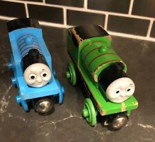 Lot Of Two Thomas Percy Wooden Railway Train Set 2003 Gullane