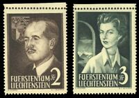 Liechtenstein 1955 ROYALTY SET MNH #287-88 CV$160.00