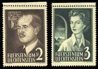 Liechtenstein 1955 ROYALTY SET MNH #287-88 CV$160.00
