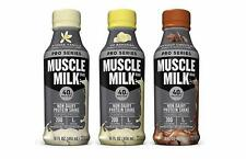 Muscle Milk Pro Series Non Dairy 40G Protein Shake, 3 Flavor Variety 12 Pk 14oz