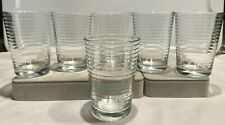 "Vintage PASABAHCE DORO Pattern 4"" - 7 oz JUICE GLASSES - Set of 6"
