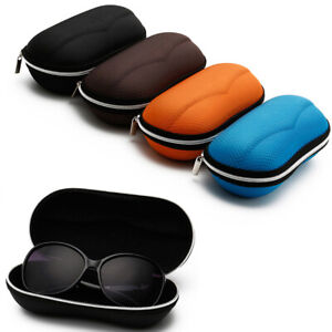 Sunglasses Case Zipper Eye Glasses Cover Bag Portable Case Solid/Cartoon Pouch