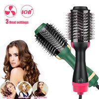 3in1 Hair Dryer Volumizer Hot Air Brush Straightening Curling Iron Comb