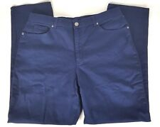 Basic Editions Womens Sz 18 Navy Blue Denim Jeans Classic Straight 5 Pocket NWT