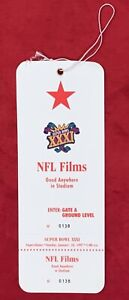 Vintage 1997 Superbowl XXXI Patriots vs Packers NFL Films Press Ticket Football