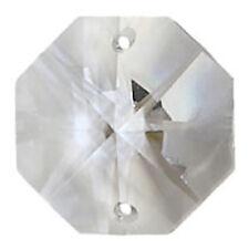 Suncatcher Crystals Clear Octagon 2 Hole 14mm Diameter Traditional Cut 10PK