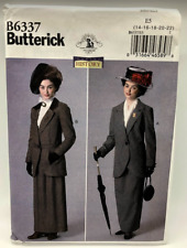 Butterick Sewing Pattern B6337 Costume Old Time Dress Size E5 14-22 Uncut Unused