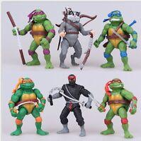 TMNT Teenage Mutant Ninja Turtles Action Figures Doll Cake Topper Car Decor Toy