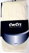 PAIRE DE COLLANTS FILLE 80-92cm 18-36 mois coton ivoire semi-opaque EWERS NEUF